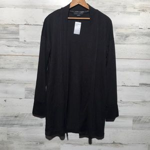 Sanctuary NWT! black open front cardigan MED